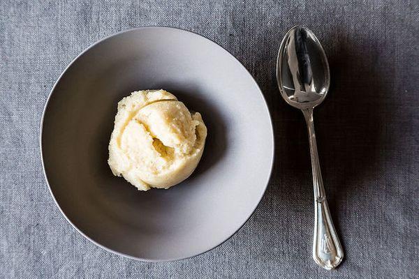 "<strong>Get the <a href=""http://food52.com/recipes/19547-pear-vanilla-sorbet"" target=""_blank"">Pear Vanilla Sorbet recipe</a>"
