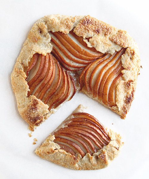 """<strong>Get the <a href=""""http://www.thefauxmartha.com/2013/12/19/pear-almond-galette/"""" target=""""_blank"""">Pear And Almond Galett"""