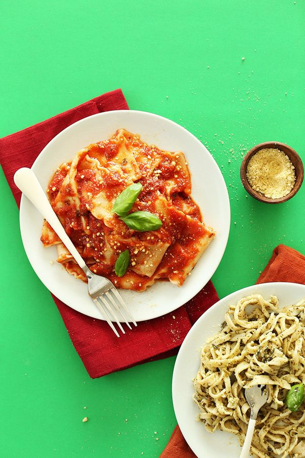 """<strong>Get the<a href=""""http://minimalistbaker.com/homemade-vegan-pasta/"""">Homemade Vegan Pasta recipe </a>from Minimali"""