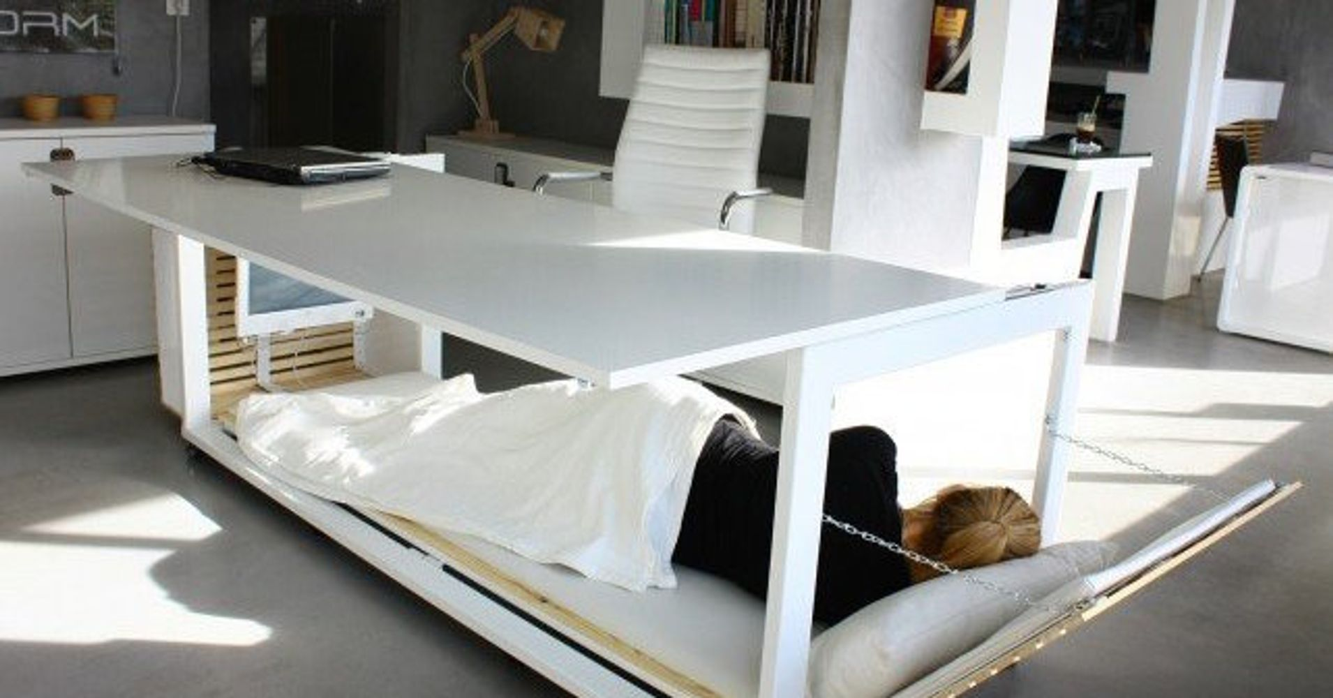 Incredible Bed Desk Hybrid Takes Work Naps To A Whole New