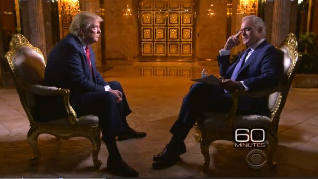 """""""I love the Muslims,"""" Donald Trump said after CBS anchor Scott Pelley asked why he didn't challenge a supporter's bigoted remark."""