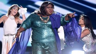 LOS ANGELES, CA - AUGUST 16:  Actress Gabourey Sidibe performs onstage during the Teen Choice Awards 2015 at the USC Galen Center on August 16, 2015 in Los Angeles, California.  (Photo by Kevin Winter/Getty Images)
