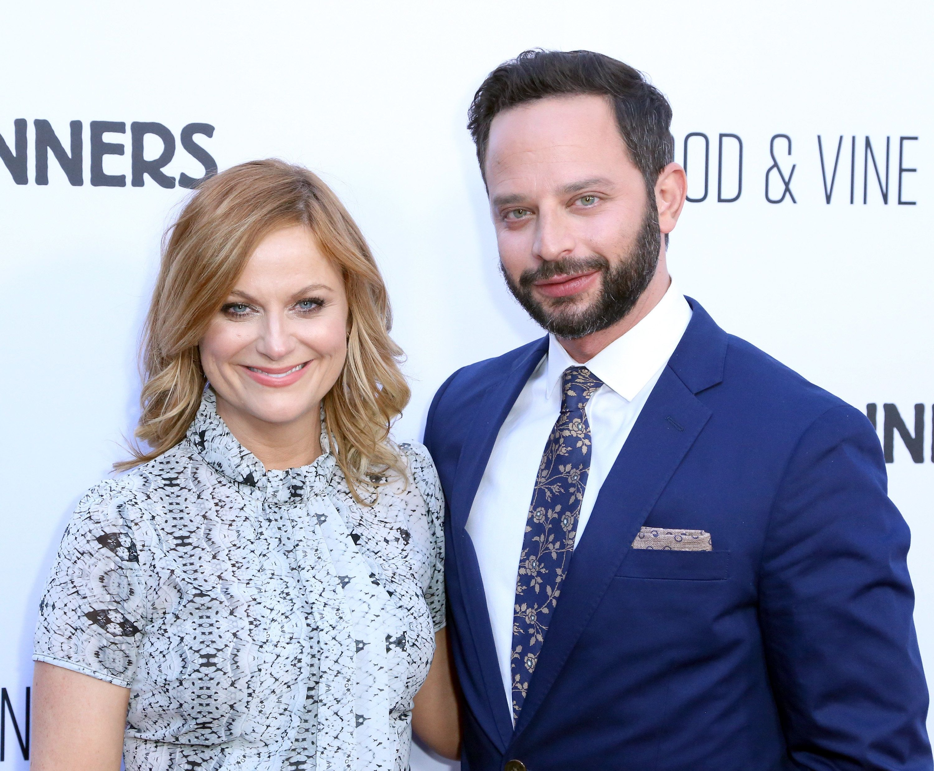 HOLLYWOOD, CA - APRIL 15: Actors Amy Poehler and Nick Kroll attend the premiere of RADiUS' 'Adult Beginners' at ArcLight Hollywood on April 15, 2015 in Hollywood, California.  (Photo by Justin Baker/Getty Images)
