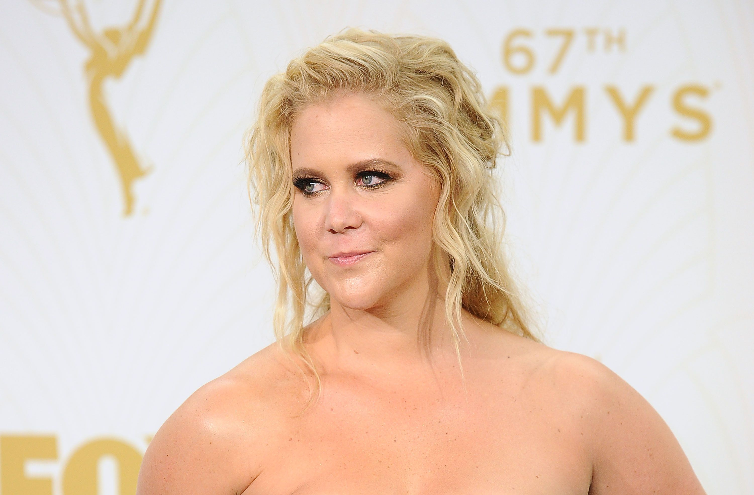 LOS ANGELES, CA - SEPTEMBER 20:  Actress Amy Schumer poses in the press room at the 67th annual Primetime Emmy Awards at Microsoft Theater on September 20, 2015 in Los Angeles, California.  (Photo by Jason LaVeris/FilmMagic)