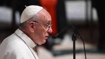 WASHINGTON, D.C. - SEPTEMBER 23: Pope Francis attends Midday Prayer of the Divine with more than 300 U.S. Bishops at the Cathedral of St. Matthew the Apostle on September 23, 2015 in Washington, DC. The Pope is on a three-day visit of Washington, D.C. as part of a larger visit to the U.S. (Photo by Jonathan Newton-Pool/Getty Images)