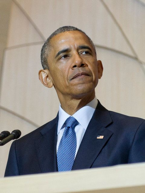 President Obama speaks at Adas Israel Congregation in Washington on May 22, 2015 as part of Jewish Heritage Month.