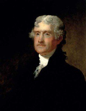 Portrait of Thomas Jefferson by Matthew Harris Jouett.