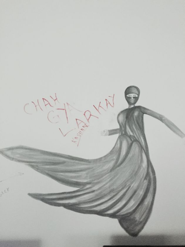"<span class='image-component__caption' itemprop=""caption"">One of many sketches of Pakistan's leading female superhero decorates a wall in the Islamabad studio, Unicorn Black.</span>"