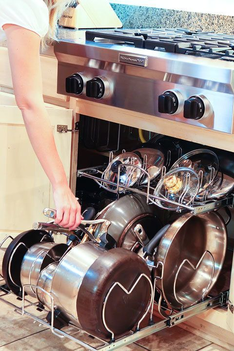 "Yes, <a href=""http://www.kevinandamanda.com/whatsnew/house-and-home/kitchen-cabinet-pots-and-pans-organization.html"">these th"