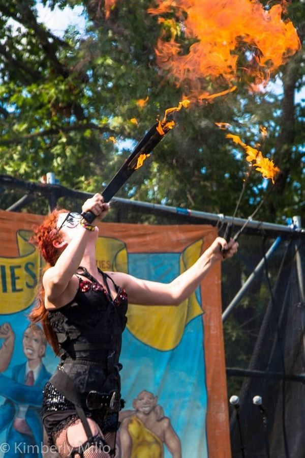 "Mackenzie Moltov is a sword swallower and fire eater who ihas challenged preconceptions about motherhood by <a href=""https://"