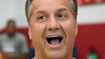 LAS VEGAS, NV - AUGUST 12:  Kentucky Wildcats head coach and USA Basketball Fantasy Camp coach John Calipari attends a practice session for the 2015 USA Basketball Men's National Team at the Mendenhall Center on August 12, 2015 in Las Vegas, Nevada.  (Photo by Ethan Miller/Getty Images)