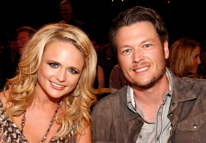 Blake and ex-wife Miranda Lambert at the American Country Music Awards in 2011.