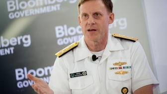 Admiral Michael 'Mike' Rogers, director of the National Security Agency (NSA) and commander of U.S. Cyber Command, speaks during a Bloomberg Government cybersecurity conference in Washington, D.C., U.S., on Tuesday, June 3, 2014. The NSA complies with legal restrictions when it comes to using facial-recognition technology on citizens Rogers said. Photographer: Andrew Harrer/Bloomberg via Getty Images