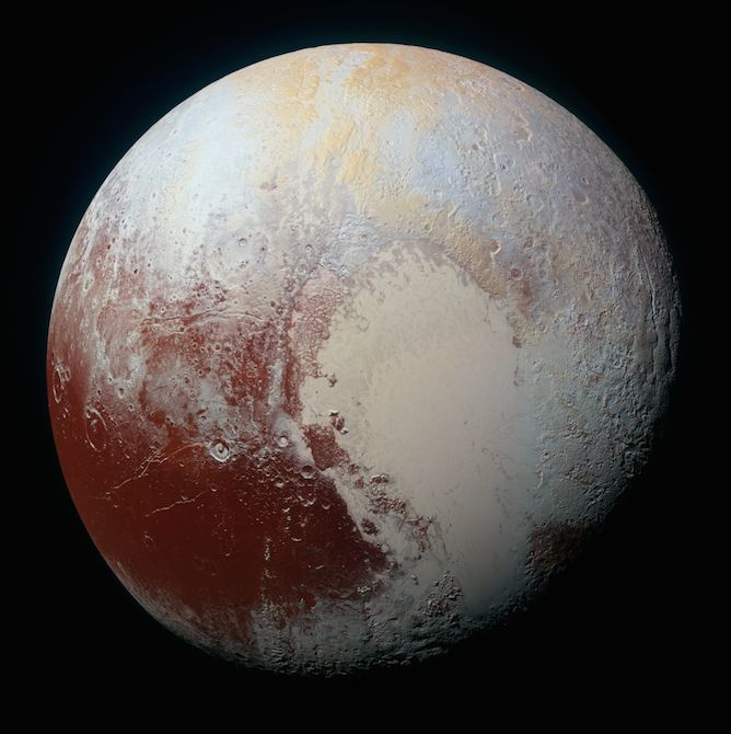 The highest-resolution color photo of Pluto ever captured.