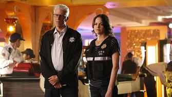 Ted Danson and Jorja Fox on Sunday's series finale.