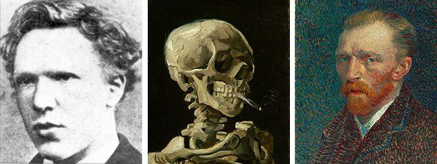 "Left:<a href=""https://en.wikipedia.org/wiki/Vincent_van_Gogh#/media/File:VincentVanGoghFoto.jpg"">1873</a>. Center: Vinc"