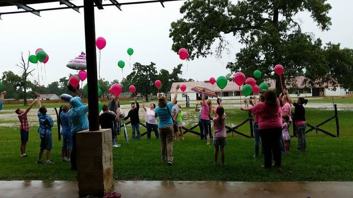 Balloon release on May 17, 2015, Danielle's 33rd birthday.