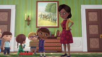 """Michelle Obama as an animated guest on Disney's """"Doc MsStuffins"""""""