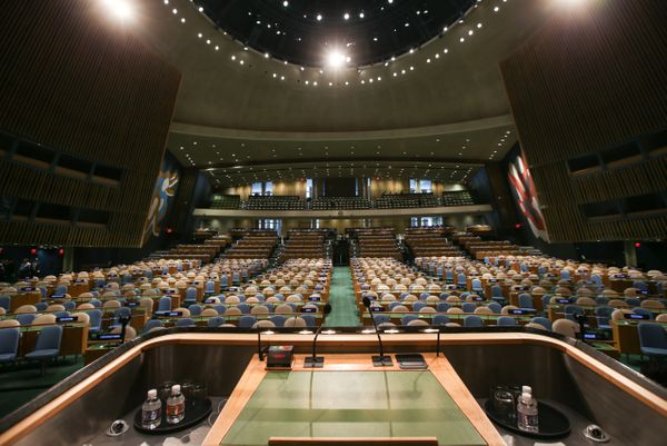 NEW YORK, NY - SEPTEMBER 25: The 70th Regular Session of the UN General Assembly (UNGA 70) is to be held to discuss the full