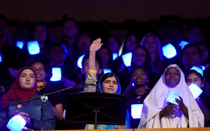 Malala Yousafzai speaks at the United Nations Sustainable Development Summit in New York on Sept. 25, 2015.