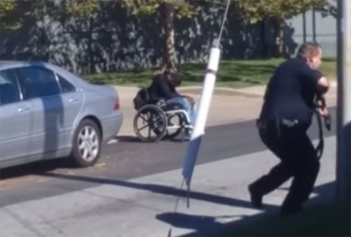 Video appears to show Delaware police fatally shoot man in a wheelchair.