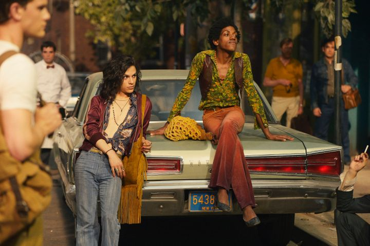"Jonny Beauchamp andVladimir Alexis star in a scene from ""Stonewall."""