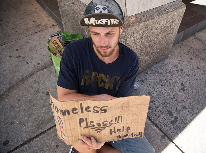 John Scott, originally from New Jersey, has been living on the streets of Philadelphia for over a year, as the city prepares