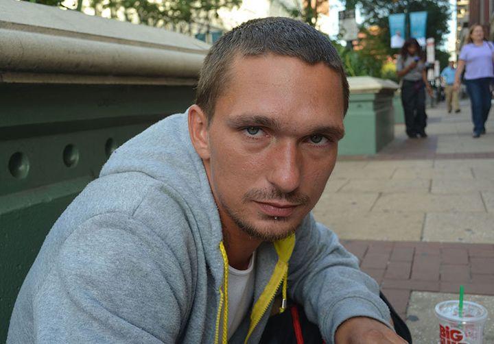 Jason Taylor, a homeless man in Philadelphia.