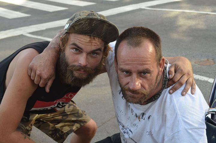 Dan Messing, left, and Joe McGraw are homeless in Philadelphia.