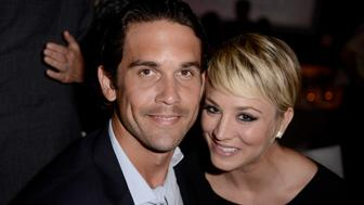 BEVERLY HILLS, CA - OCTOBER 20:  Actress Kaley Cuoco (R) and tennis player Ryan Sweeting attend ELLE's 21st Annual Women in Hollywood Celebration at the Four Seasons Hotel on October 20, 2014 in Beverly Hills, California.  (Photo by Jeff Vespa/Getty Images for ELLE)