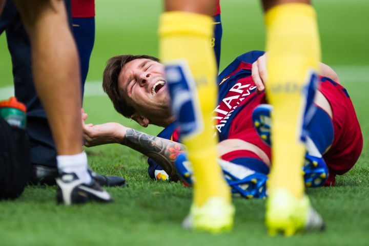 FC Barcelona forward Lionel Messi tore his MCL in a match against Las Palmas on Saturday.