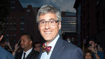 NEW YORK, NY - AUGUST 06:  Mo Rocca is seen departing the final episode of 'The Daily Show with Jon Stewart' at The Daily Show Building on August 6, 2015 in New York City.  (Photo by D Dipasupil/FilmMagic)