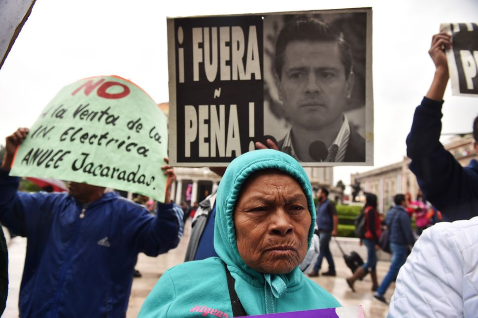 President Enrique Peña Nieto met the families of the missing students this week.