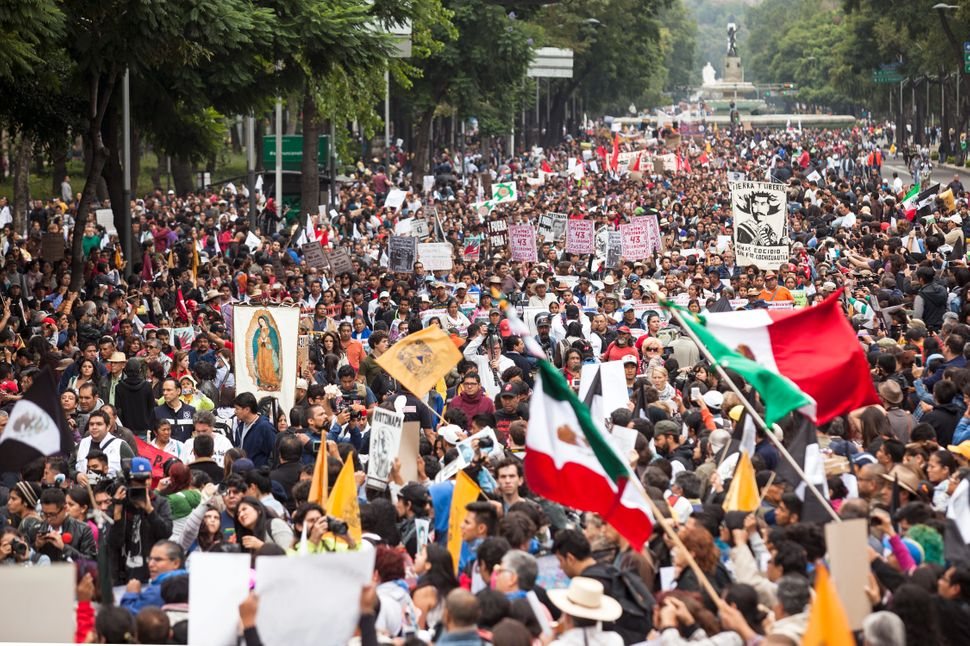 Thousands attended the anniversary protests in the capital.