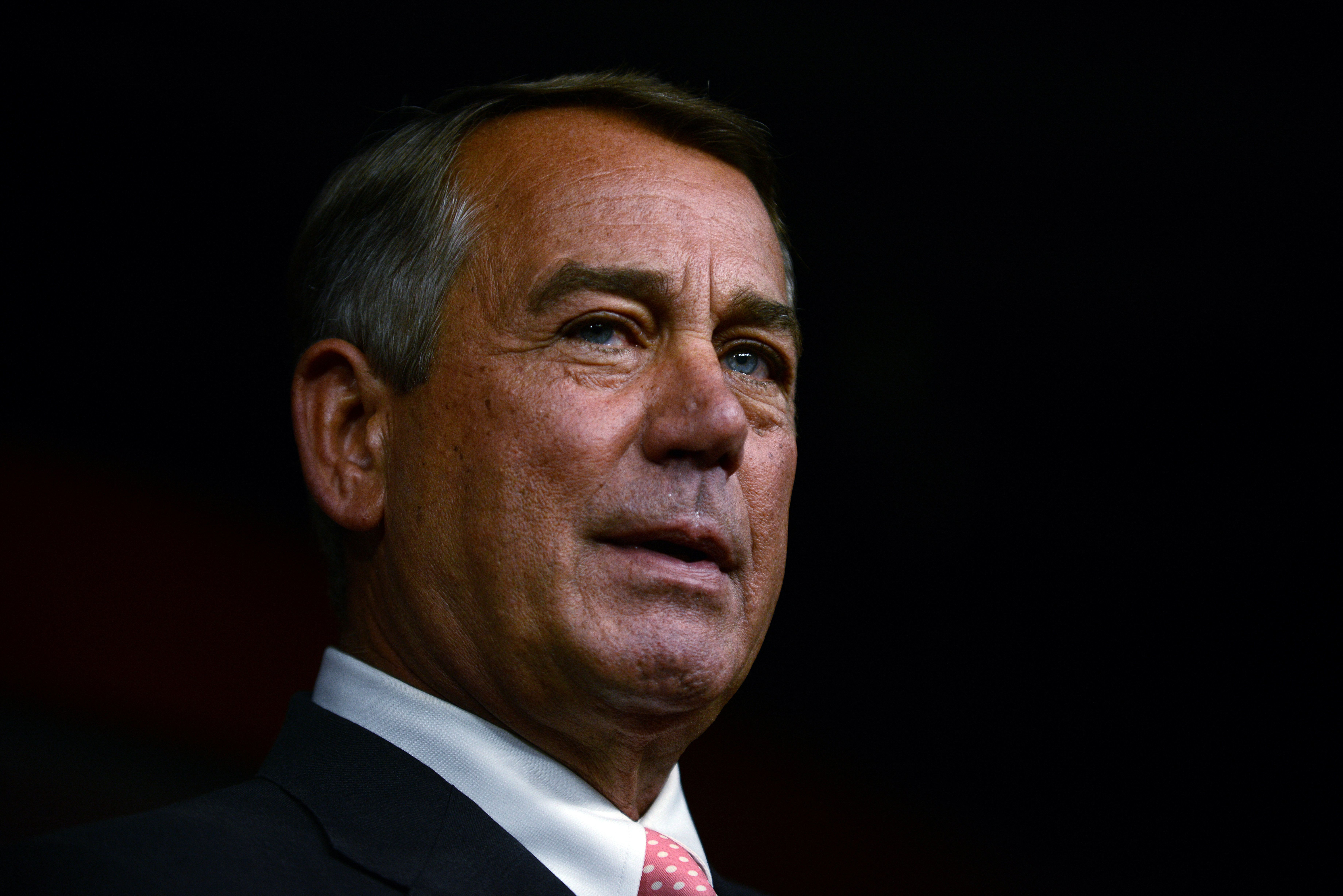 WASHINGTON, DC - SEPTEMBER 25: House Speaker John Boehner announces his resignation during a press conference on Capitol Hill September 25, 2015 in Washington, DC. After 25 years in Congress and five years as Speaker, Boehner said he decided this morning to step down after contemplation and prayer.  (Photo by Astrid Riecken/Getty Images)