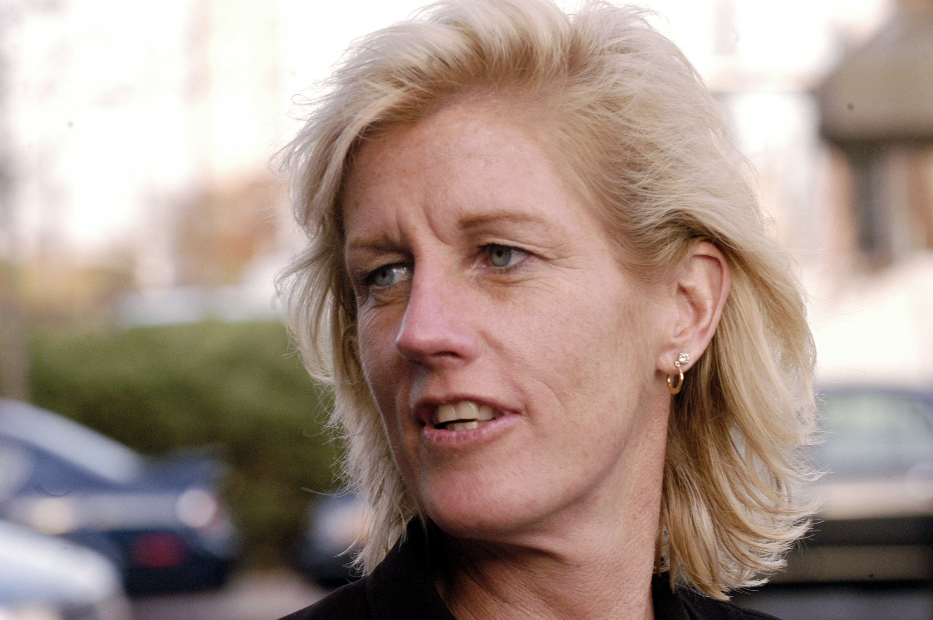 UNITED STATES - NOVEMBER 01:  Merck attorney Diane Sullivan leaves the Atlantic County Civil Court building in Atlantic City, New Jersey, Thursday, November 1, 2005. Deliberations have begun in the second trial over Merck & Co.'s Vioxx painkiller, as an Atlantic City, New Jersey jury weighs claims that the drug caused an ex-Marine's heart attack.  (Photo by Mike Mergen/Bloomberg via Getty Images)
