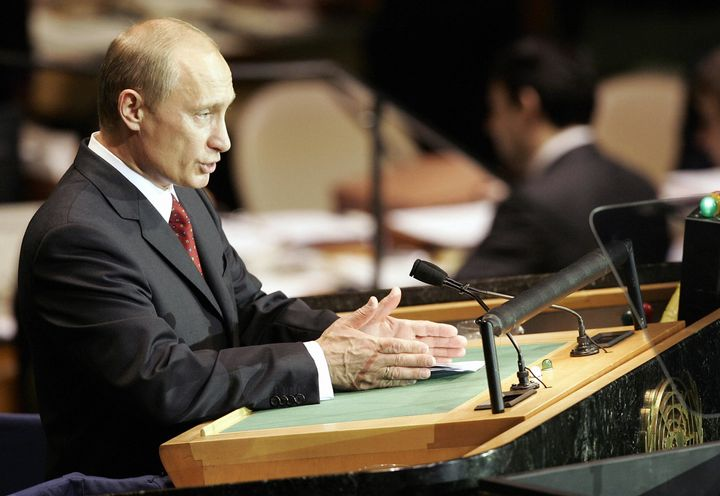 Russian President Vladimir Putin last spoke at the United Nations General Assembly a decade ago.