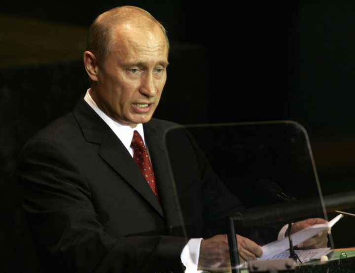 Russian President Vladimir Putin praised the U.N. in his 2005 address.