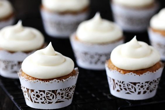 """<strong>Get the <a href=""""http://www.gimmesomeoven.com/spiced-butternut-squash-cupcakes-with-maple-cream-cheese-frosting/"""" tar"""