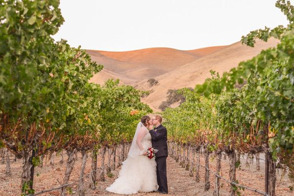 """""""Congratulations to newlyweds Nicole and Cory who tied the knot this Sunday at Wente Vineyards in Livermore, California!"""" - L"""