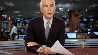 In this Dec. 14, 2011 photo, Univision newscaster Jorge Ramos works in the studio in Miami, Florida. Ramos is anchors one of the most watched news shows in Spanish the U.S. (AP Photo/Alan Diaz)