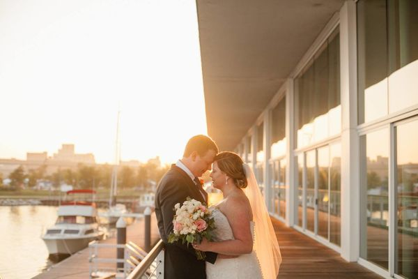 """""""Lauren and Rob had the most beautiful day for their wedding on the shores of Lake Michigan in Milwaukee, Wisconsin."""" - Laura"""