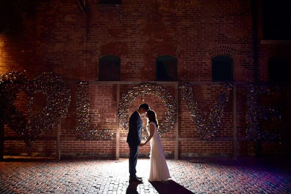 """""""Robin and Arthur were married in Toronto's historic Distillery District."""" - Lindsay Ross"""