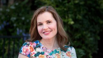 LOS ANGELES, CA - JUNE 02:  Geena Davis arrives for the British Consul General hosts Theirworld Collaboration with Astley Clarke summer reception at The British Residence on June 2, 2015 in Los Angeles, California.  (Photo by Gabriel Olsen/FilmMagic)