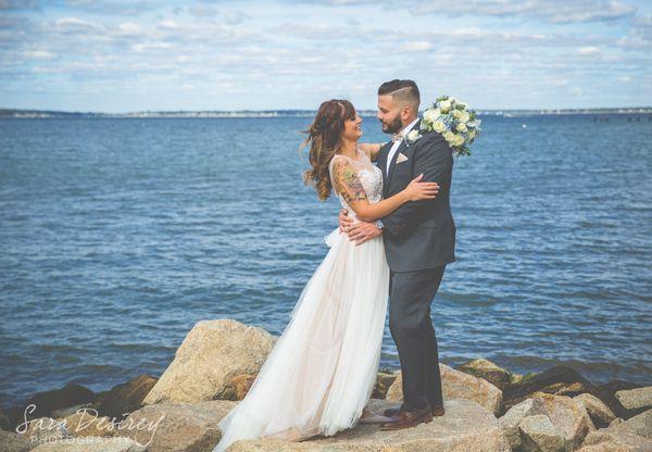 """Courtney and Matt were married today at The Boathouse Restaurant in Tiverton, Rhode Island."" - Sara Desirey"