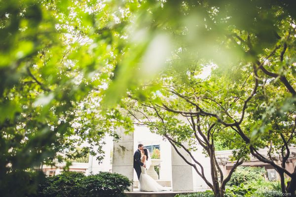 """""""Kristen and Dan enjoyed the hidden gems of Bethesda, Maryland before their wedding reception this past weekend."""" - Hooman Ba"""