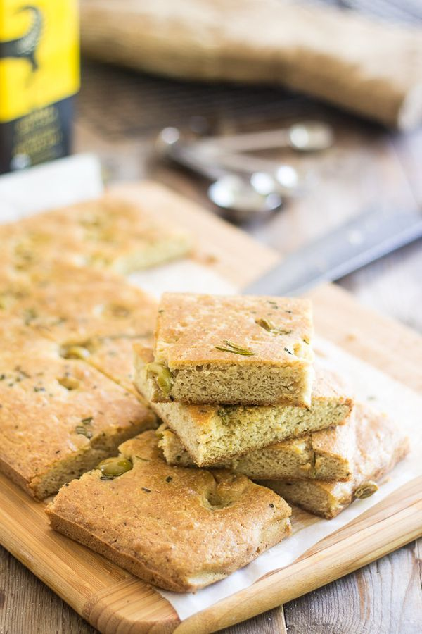 "<strong>Get the <a href=""http://thehealthyfoodie.com/olive-rosemary-fauxcaccia/"" target=""_blank"">Olive And Rosemary Faux'cacc"