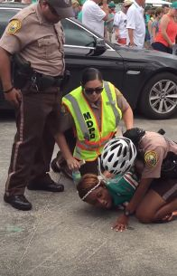 Miko Grimes, wife of Miami Dolphins' Brent Grimes, was arrested outside of Sun Life Stadium on Sunday.