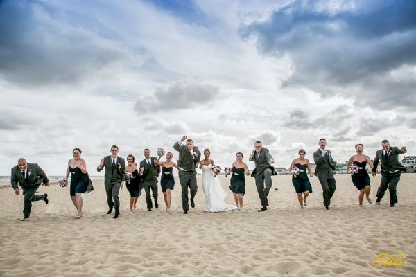 """""""Lisa and Andrew were married on Saturday 9/26 at The Crystal Point Yacht Club in Point Pleasant, New Jersey. It was windy&nb"""