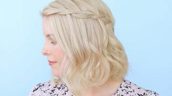 How to do a waterfall braid on short hair.